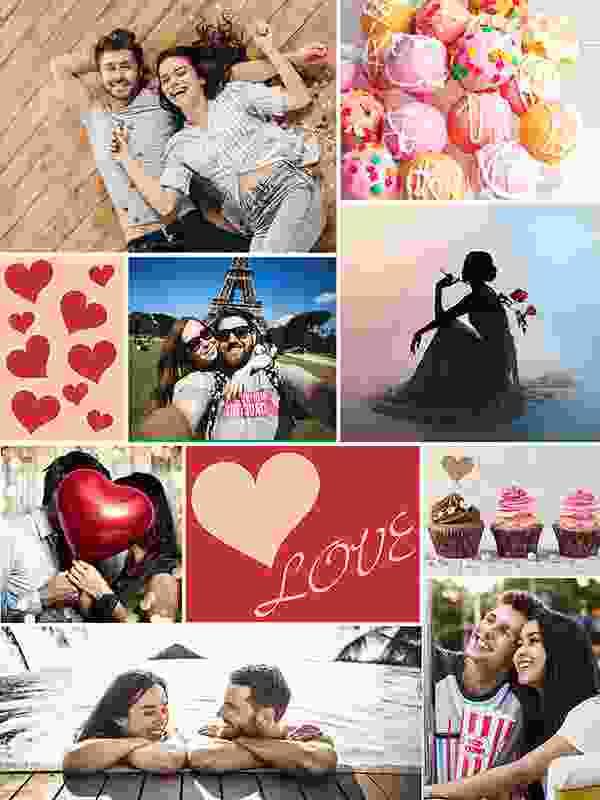 Kollaasipalapeli 8 kuvat  teemoja
