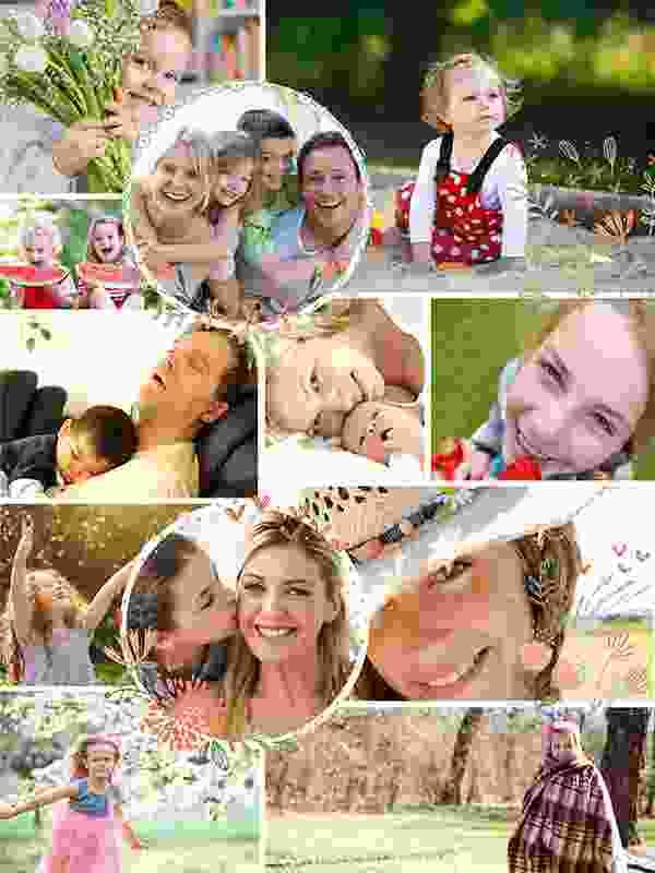 Kollaasipalapeli 12 kuvat kuvituksella