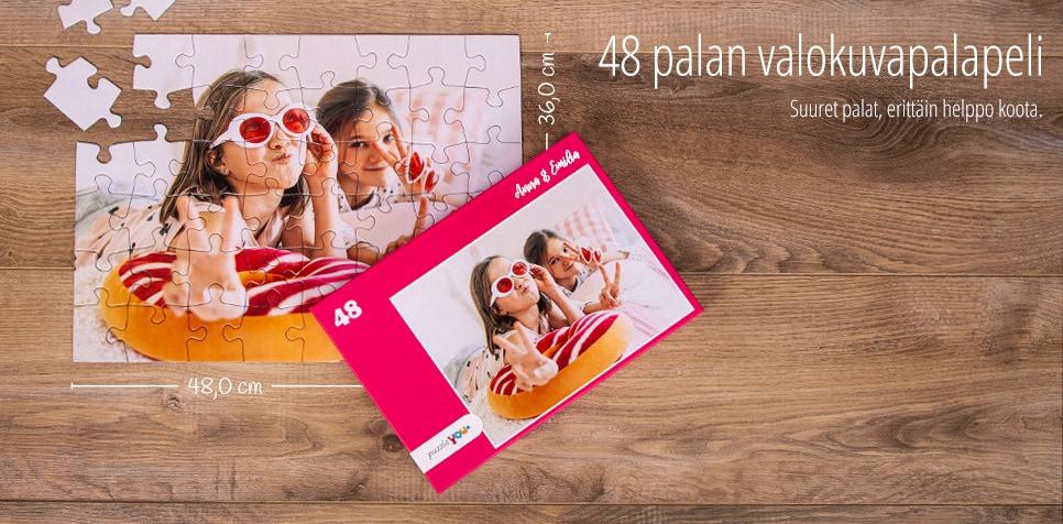 48 palan valokuvapalapeli: suuret palat, erittäin helppo koota