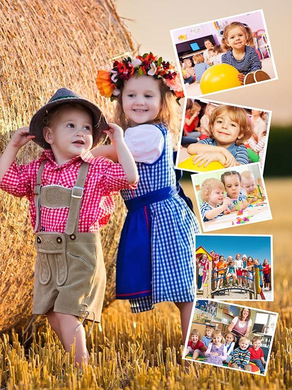 Kollaasipalapeli 6 kuvat oma kuva taustana