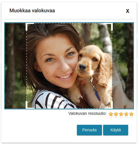 Muistipeli omista kuvista - kuva-asetuksiin