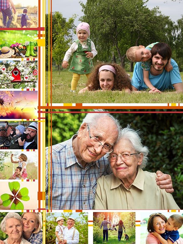 Kollaasipalapeli 13 kuvat kuvituksella
