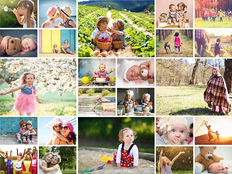 Kollaasipalapeli 24 kuvat yksinkertainen